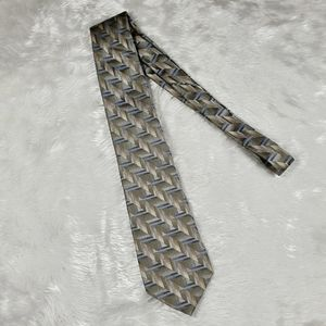 Modern Elements - green olive and blue men's tie